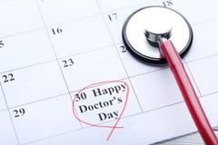 Wpisowy Szczęśliwy lekarka dzień Fotografia Royalty Free