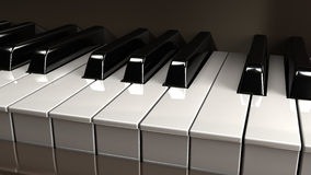 wpisuje pianino Fotografia Stock