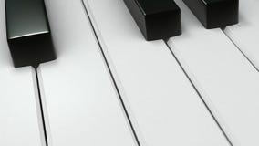 wpisuje pianino Zdjęcia Royalty Free