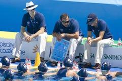 WPO: Światowy Aquatics mistrzostwo Chiny vs usa Fotografia Royalty Free