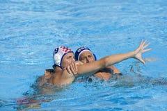 WPO: Πρωτάθλημα παγκόσμιου Aquatics - ΗΠΑ εναντίον της Κροατίας Στοκ Φωτογραφίες