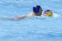 WPO: Чемпионат Aquatics мира - Германия против Черногории Стоковая Фотография