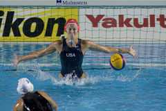 WPO: Чемпионат Aquatics мира - Канада женщин окончательная против США Стоковое Изображение RF
