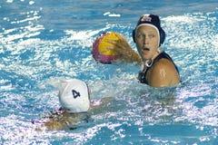 WPO: Чемпионат Aquatics мира - Канада женщин окончательная против США Стоковое фото RF