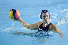 WPO: Чемпионат Aquatics мира - США против Греции выпускных экзаменов semi Стоковое Фото