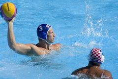WPO :世界水上冠军-美国对克罗地亚 图库摄影