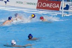 WPO :美国v马其顿,第13个世界水上冠军罗马09 免版税图库摄影