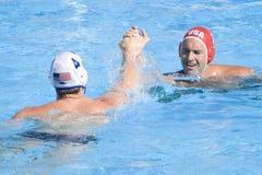 WPO: Campeonato de los Aquatics del mundo - los E.E.U.U. contra Alemania Fotografía de archivo