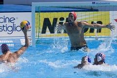 WPO: Campeonato de los Aquatics del mundo - los E.E.U.U. contra Croacia Imagenes de archivo
