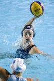 WPO: Campeonato de los Aquatics del mundo - los E.E.U.U. contra de Grecia el final semi Fotos de archivo