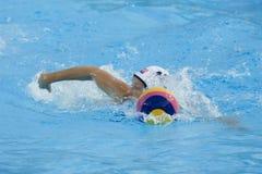 WPO: Campeonatos acuáticos del mundo - los E.E.U.U. contra Grecia Imagenes de archivo