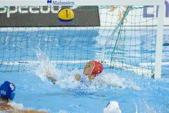 WPO: Campeonatos acuáticos del mundo - los E.E.U.U. contra Grecia Foto de archivo libre de regalías
