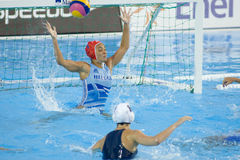 WPO: Campeonatos acuáticos del mundo - los E.E.U.U. contra Grecia Fotos de archivo libres de regalías