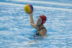 WPO: Campeonatos acuáticos del mundo - los E.E.U.U. contra Grecia Fotografía de archivo