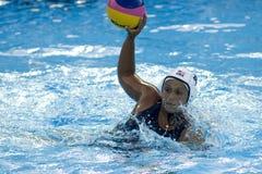 WPO: Campeonatos acuáticos del mundo - los E.E.U.U. contra Grecia Fotografía de archivo libre de regalías