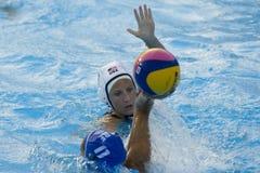 WPO: Campeonatos acuáticos del mundo - los E.E.U.U. contra Grecia Foto de archivo
