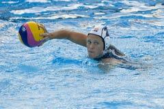 WPO: Campeonatos acuáticos del mundo - los E.E.U.U. contra Grecia Imagen de archivo