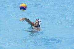 WPO: Campeonatos acuáticos del mundo - los E.E.U.U. contra Rumania Foto de archivo libre de regalías