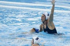 WPO: Campeonatos aquáticos do mundo - EUA contra Grécia Foto de Stock Royalty Free