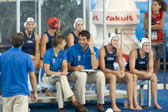 WPO: Campeonatos aquáticos do mundo - EUA contra Grécia Fotografia de Stock Royalty Free