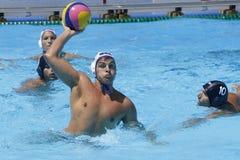 WPO: Campeonatos aquáticos do mundo - EUA contra Roménia Fotografia de Stock Royalty Free