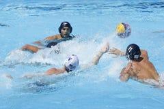 WPO: Campeonatos aquáticos do mundo - EUA contra Roménia Foto de Stock Royalty Free