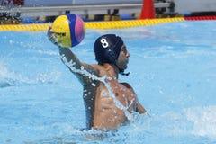 WPO: Campeonatos aquáticos do mundo - EUA contra Roménia Imagens de Stock Royalty Free