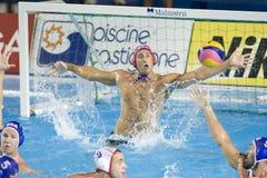 WPO: Campionato di Aquatics del mondo - finale dei semi - U.S.A. contro la Spagna Immagine Stock Libera da Diritti