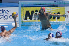 WPO: Campionato di Aquatics del mondo - U.S.A. contro la Croazia Immagini Stock