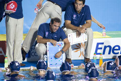 WPO : Championnat d'Aquatics du monde - Etats-Unis contre de la Grèce la finale semi Photographie stock