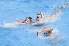 WPO : Championnat d'Aquatics du monde - Etats-Unis contre l'Allemagne Image libre de droits