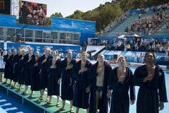 WPO : Championnat d'Aquatics du monde - Etats-Unis contre la Croatie Image libre de droits