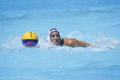 WPO : Championnats aquatiques du monde - Etats-Unis contre la Roumanie Image libre de droits