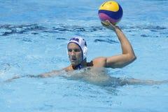 WPO : Championnats aquatiques du monde - Etats-Unis contre la Roumanie Photo libre de droits
