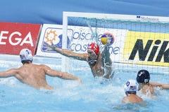 WPO : Championnats aquatiques du monde - Etats-Unis contre la Roumanie Photographie stock