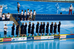 WPO:  De V.S. v Macedonië, de 13de kampioenschappen Rome 09 van Wereldaquatics Royalty-vrije Stock Afbeelding