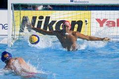 WPO:  De V.S. v Macedonië, de 13de kampioenschappen Rome 09 van Wereldaquatics Stock Foto
