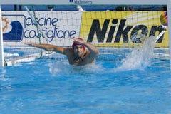 WPO:  De V.S. v Macedonië, de 13de kampioenschappen Rome 09 van Wereldaquatics Stock Afbeelding