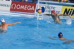 WPO:  De V.S. v Macedonië, de 13de kampioenschappen Rome 09 van Wereldaquatics Stock Fotografie
