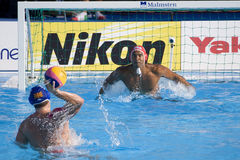 WPO:  EUA v Macedônia, 13os campeonatos Roma 09 dos Aquatics do mundo Fotos de Stock