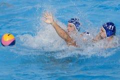 WPO:  EUA v Macedônia, 13os campeonatos Roma 09 dos Aquatics do mundo Fotografia de Stock