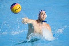 WPO:  EUA v Macedônia, 13os campeonatos Roma 09 dos Aquatics do mundo Imagem de Stock