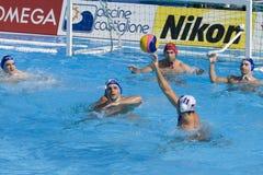 WPO :  Les Etats-Unis v Macédoine, 13èmes championnats Rome 09 d'Aquatics du monde Photo libre de droits