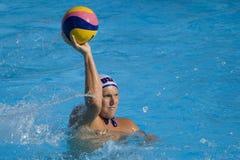 WPO:  Los E.E.U.U. v Macedonia, décimotercero campeonatos Roma 09 de los Aquatics del mundo Imágenes de archivo libres de regalías