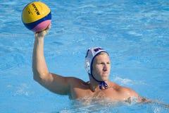 WPO:  Los E.E.U.U. v Macedonia, décimotercero campeonatos Roma 09 de los Aquatics del mundo Fotos de archivo