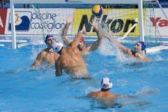 WPO:  U.S.A. v Macedonia, tredicesimo campionati mondiali di nuoto Roma 09 Immagine Stock Libera da Diritti