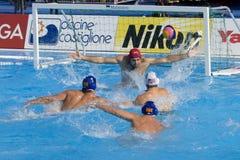 WPO:  U.S.A. v Macedonia, tredicesimo campionati mondiali di nuoto Roma 09 Fotografia Stock Libera da Diritti