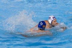 WPO:  USA v Macedonia, 13th Światowi Aquatics mistrzostwa Rzym 09 Obrazy Stock