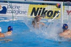 WPO:  USA v Macedonia, 13th Światowi Aquatics mistrzostwa Rzym 09 Fotografia Royalty Free