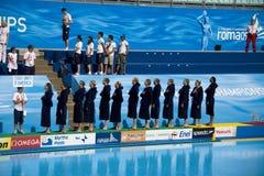 WPO:  USA v Macedonia, 13th Światowi Aquatics mistrzostwa Rzym 09 Obraz Royalty Free